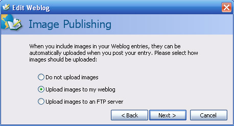 Windows Live Writer - Upload Images