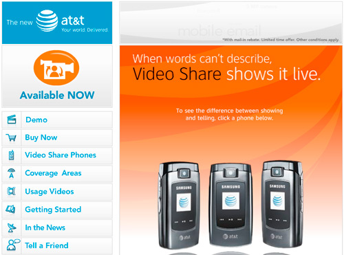 AT&T Video Share - Live Video During a Call
