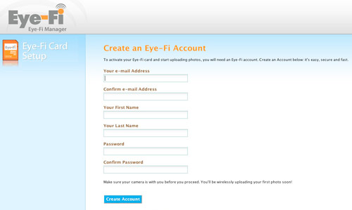 Eye-Fi Website Setup