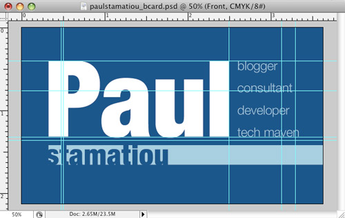 Paul Stamatiou's Business Card
