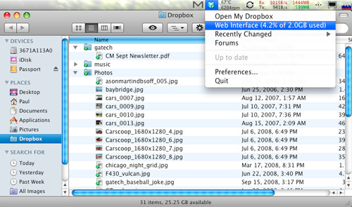 Dropbox in OS X