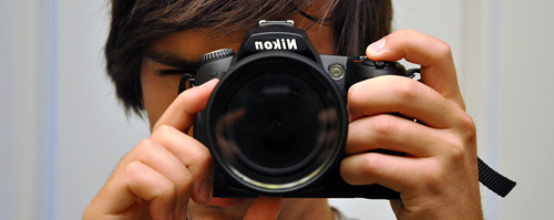Nikon D90 in the mirror