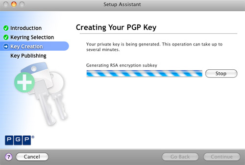 PGP Key Creation