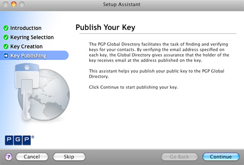 Publish PGP Key