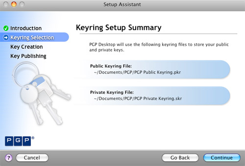 Setup PGP Keyring