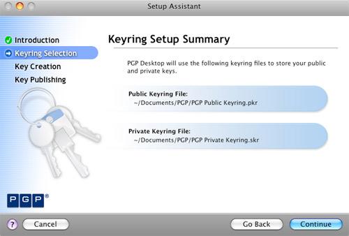 Setup PGP Keyring