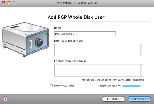 PGP Whole Disk Encryption - Add User
