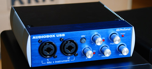 Front of PreSonus Audiobox USB