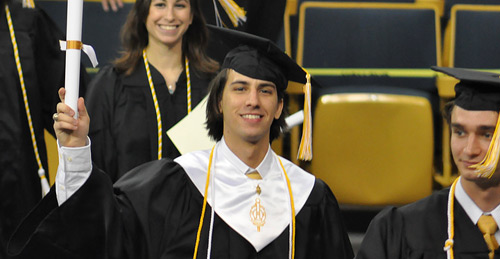Paul Stamatiou at Georgia Tech Fall 2008 Commencement Graduation
