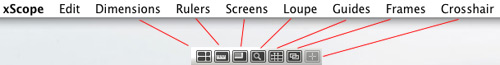Iconfactory xScope Menu and Icons