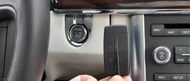 Keyfob and Engine Start Button - 2009 Lincoln MKS Luxury Sedan