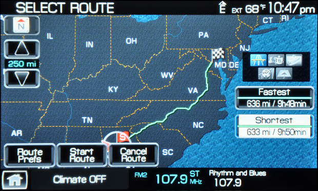 2009 Lincoln Mks Sync Nav Map