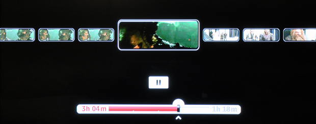 Roku Player - Scrolling through a movie