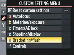 Nikon D90 Menu