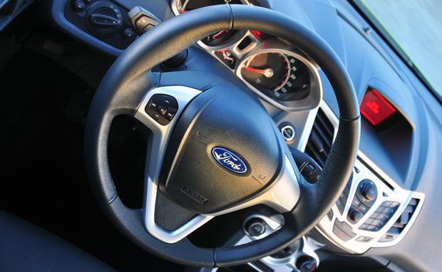 The Fiesta has an excellent steering wheel