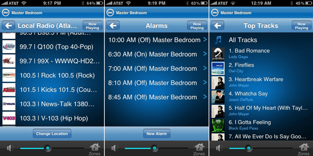 Sonos Controller iPhone App Screenshots