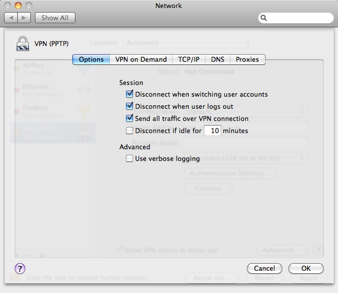 Set up home vpn on mac