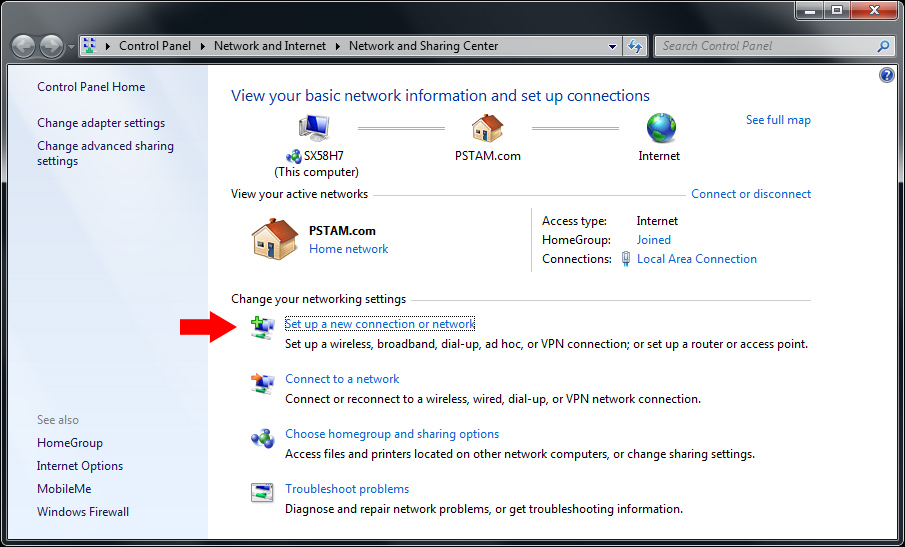 How to create a VPN server using Windows 7 built-in tool