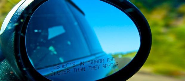 Looking in the mirror - Driving to San Francisco