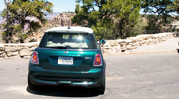 Parked at The Grand Canyon South Rim