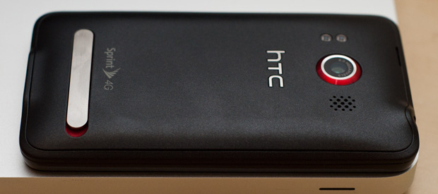 Back of HTC EVO 4G
