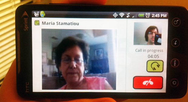 Skype video chat on the HTC EVO 4G with the Fring app