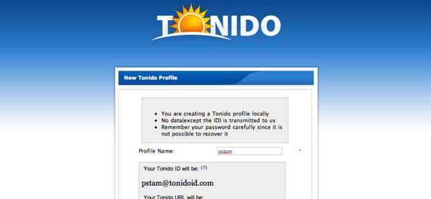 TonidoPlug registration with TonidoID