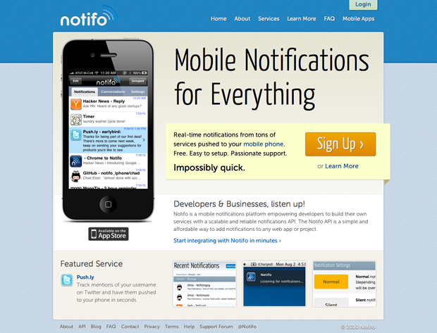 Notifo - Mobile Notifications for Everything