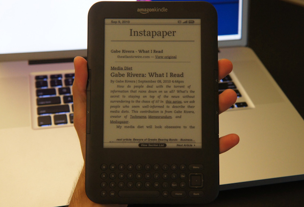 Instapaper on the Kindle