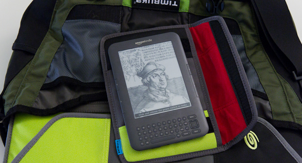 Kindle 3 and Timbuk2 bag and sleeve