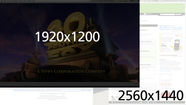 Resolution Comparison - 1920 vs 2560