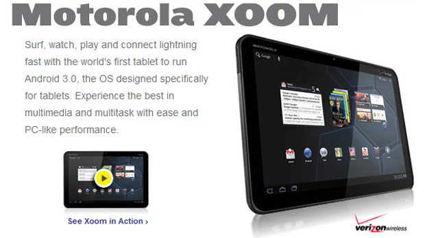Motorola Xoom Launch advertising