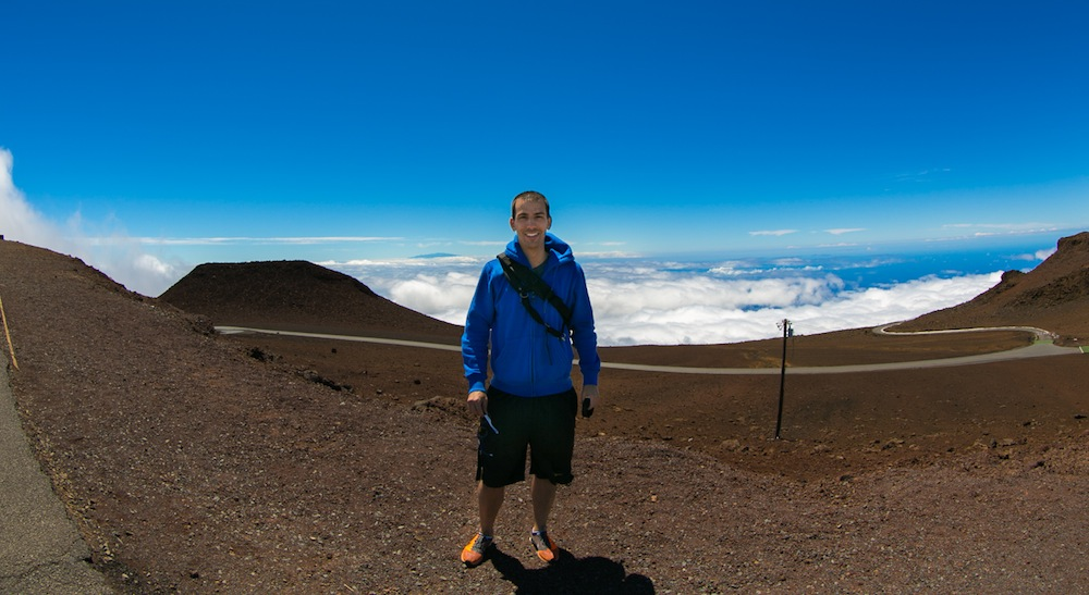 Paul Stamatiou at Haleakala Crater, Hawaii