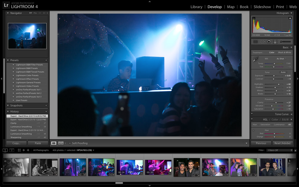 Ryan Mendoza playing Project One SF - adobe lightroom