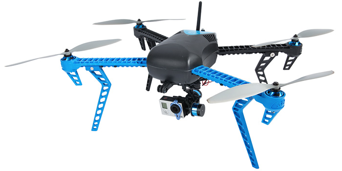 3D Robotics IRIS quadcopter with gimbal and GoPro