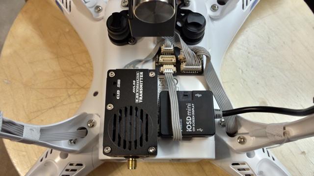DJI Phantom 2 FPV Hub install with AVL58