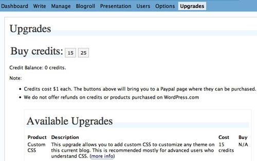 WordPress.com adds Custom CSS