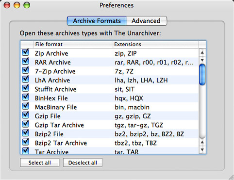 The Unarchiver Preferences