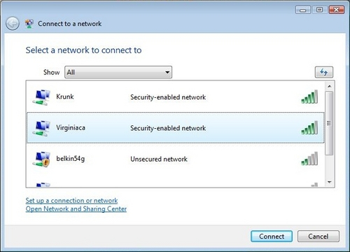 windows how to connect to internet windows vista