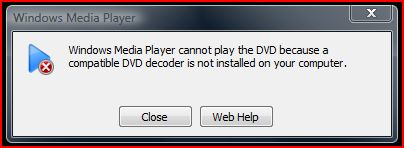 Vista WMP DVD Error