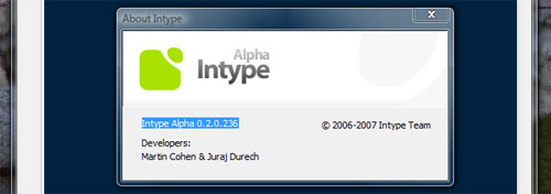 Intype Editor in Vista