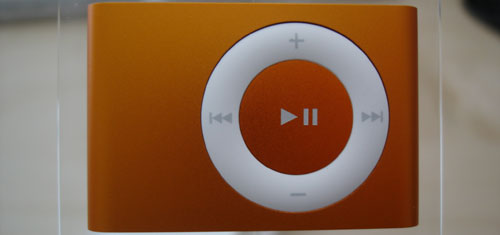 Orange iPod Shuffle