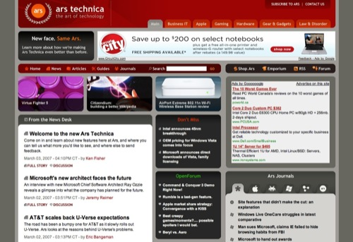 Ars Technica Redesign