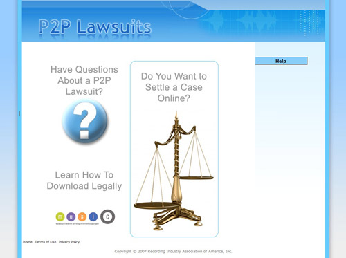 RIAA P2P Lawsuits