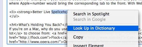WebKit Spellcheck