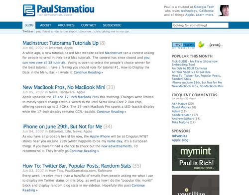 PaulStamatiou.com - New Logo, New Design