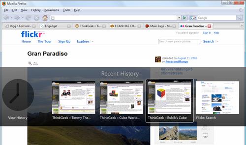 Mozilla Labs Firefox GKUI mockup
