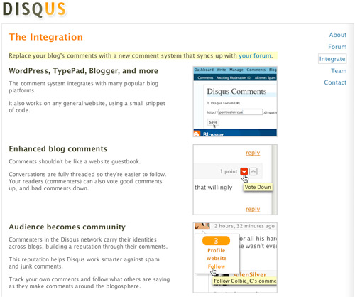 Disqus blog integration