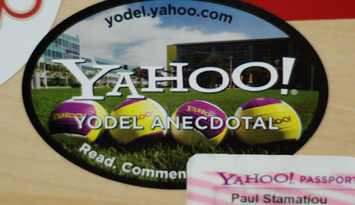 Yahoo! Yodel Anecdotal blog