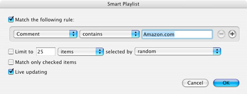 iTunes Smart Playlist - Amazon MP3